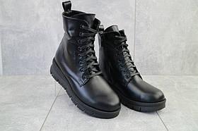 Ботинки женские Dali 7k черные (натуральная кожа, зима)