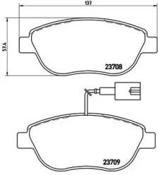 Комплект тормозных колодок, дисковый тормоз P 23 087 BREMBO
