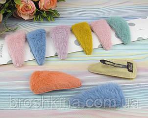 Шпильки для волосся тік-так 8*3.8 см метал з хутром 10 шт/уп.