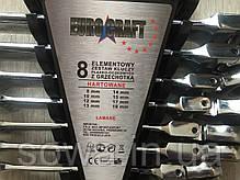 ✔️ Набор рожково накидных ключей с трещоткой на кардане Euro craft 8 шт ( 8-19мм ), фото 2