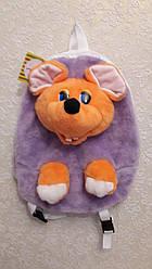 Дитячий рюкзак - м'яка іграшка Мишка 32см жовта