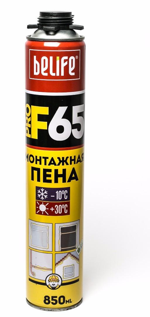 Профессиональная монтажная пена с увеличенным выходом Belife PRO-F65