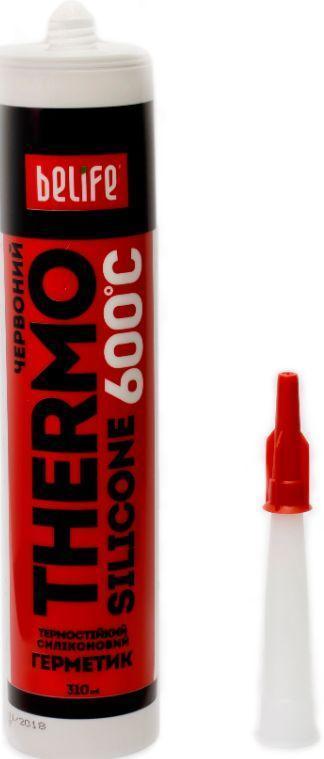 Термостойкий силиконовый герметик (Красный ST-320), 310 мл