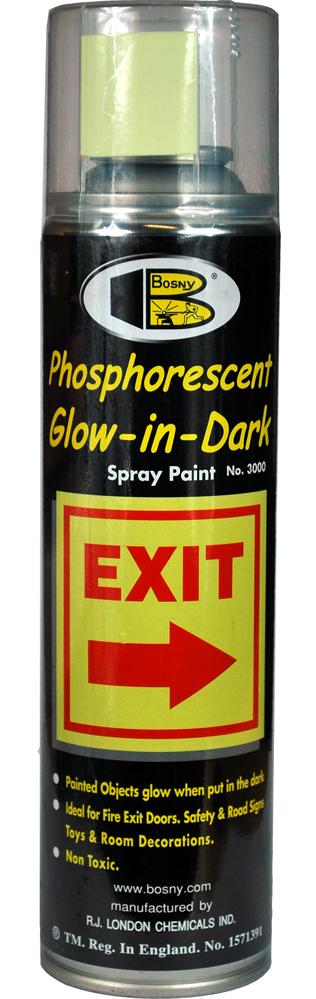 Фосфоресцентная краска салатовый (светится в темноте) Bosny, 300 мл