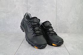 Повседневная обувь мужские Yuves 559 черные (натуральная кожа, весна/осень)