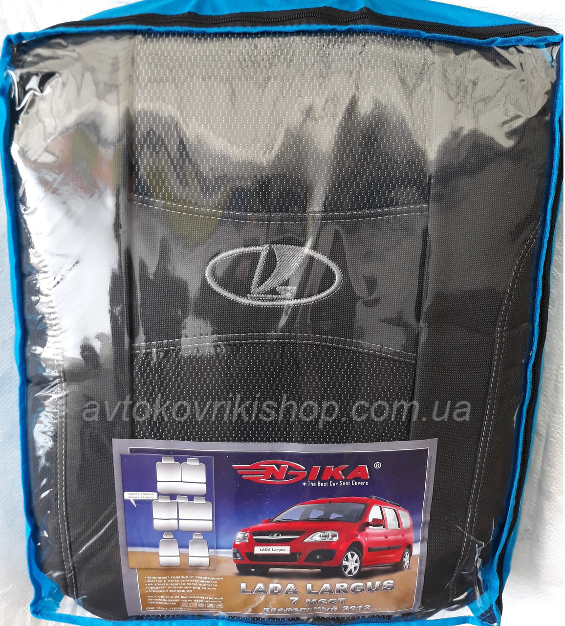 Авто чехлы Lada Largus 2012- 7 мест (раздельная) Nika