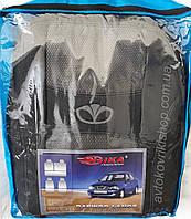 Авточехлы Daewoo Lanos 1997- (тёмно-серый) Nika, фото 1
