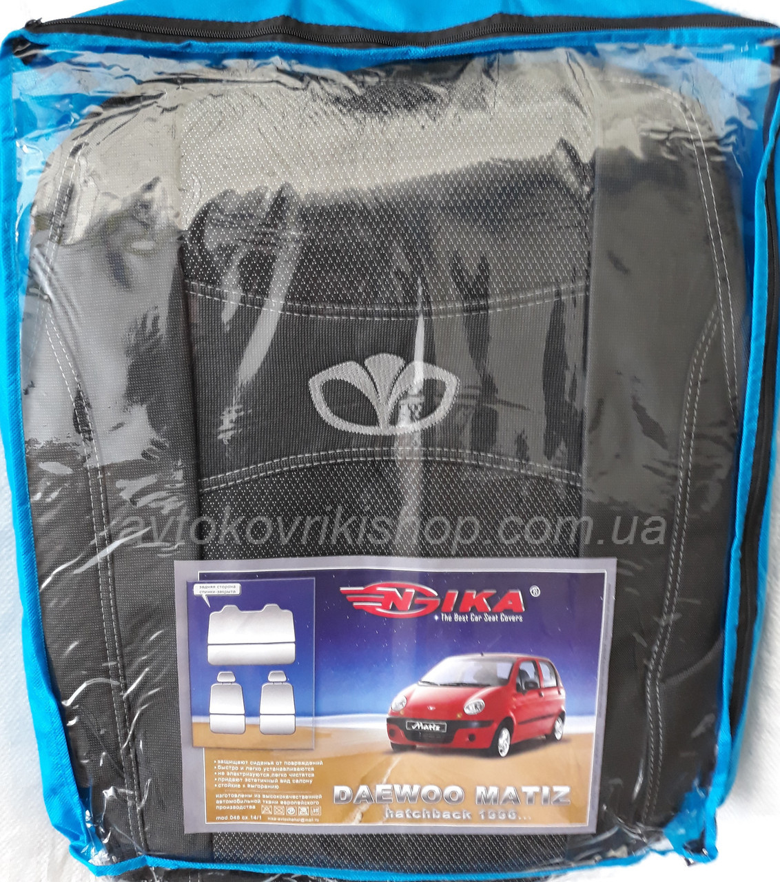 Авточехлы Daewoo Matiz HB 1998- (тёмно-серый) Nika