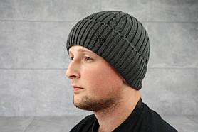 Мужская зимння шапка ShaDo 59 Асфальт