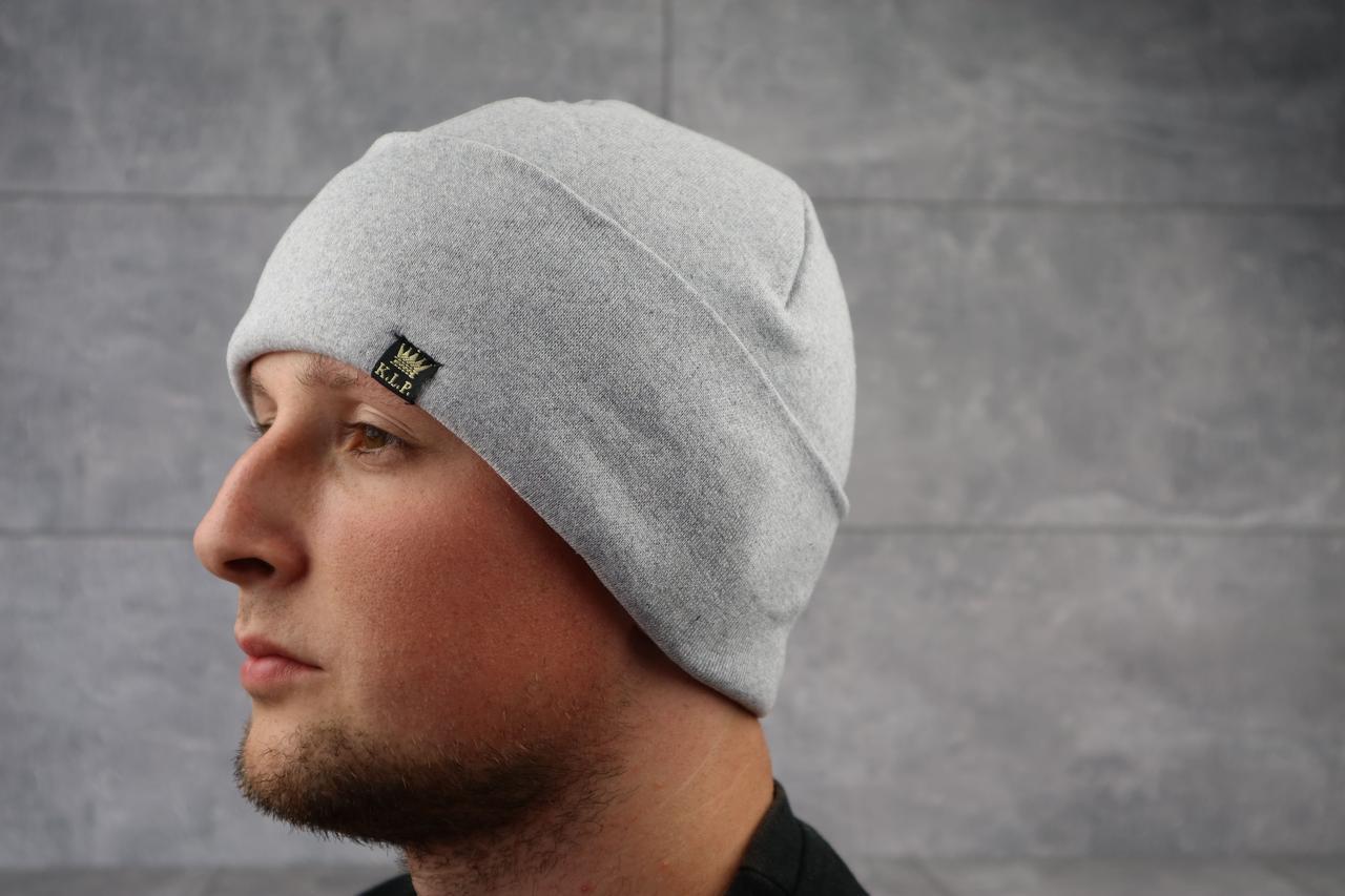 Мужская зимння шапка с отворотом ShaDo 24.1 Серый