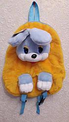 Дитячий рюкзак - м'яка іграшка Зайчик 37см жовтий