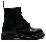 """Демисезонные Женские Ботинки Dr. Martens 1460 *Без Меха* """"Full Black"""" - """"Черные"""" (Копия ААА+)"""