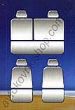 Автомобільні чохли Chevrolet Aveo 2002-2011 (sedan) (темно-сірий) Nika, фото 4