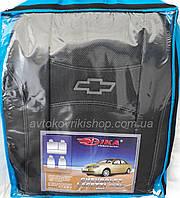 Автомобильные чехлы Chevrolet Lacetti 2003- (sedan) (тёмно-серые) Nika, фото 1