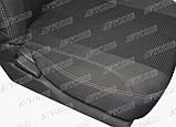 Автомобильные чехлы Chevrolet Lacetti 2003- (sedan) (тёмно-серые) Nika, фото 3