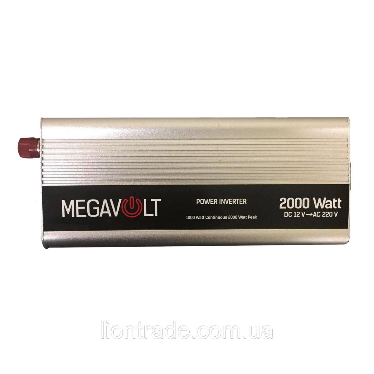 Преобразователь напряжения 12v-220v 2000W MEGAVOLT