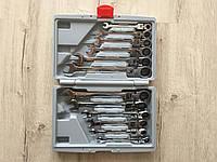 ✔️ Набор рожково-накидных ключей с трещоткой на кардане 12 шт LEX 1578