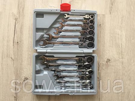 ✔️ Набір рожково-накидних ключів з тріскачкою на кардане 12 шт LEX 1578, фото 2