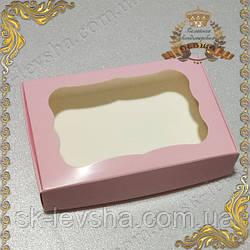 Коробка 100*150*30 для пряников Пудра с фигурным окном