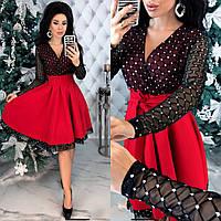 Стильное платье красного цвета С-М, Л-ХЛ р.
