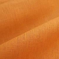 Льняная ткань для постельного белья охряного цвета (шир. 260 см), фото 1