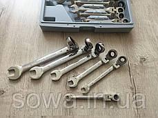 Рожково - накидные ключи с трещоткой на кардане - 12 шт LEX 1578, фото 3