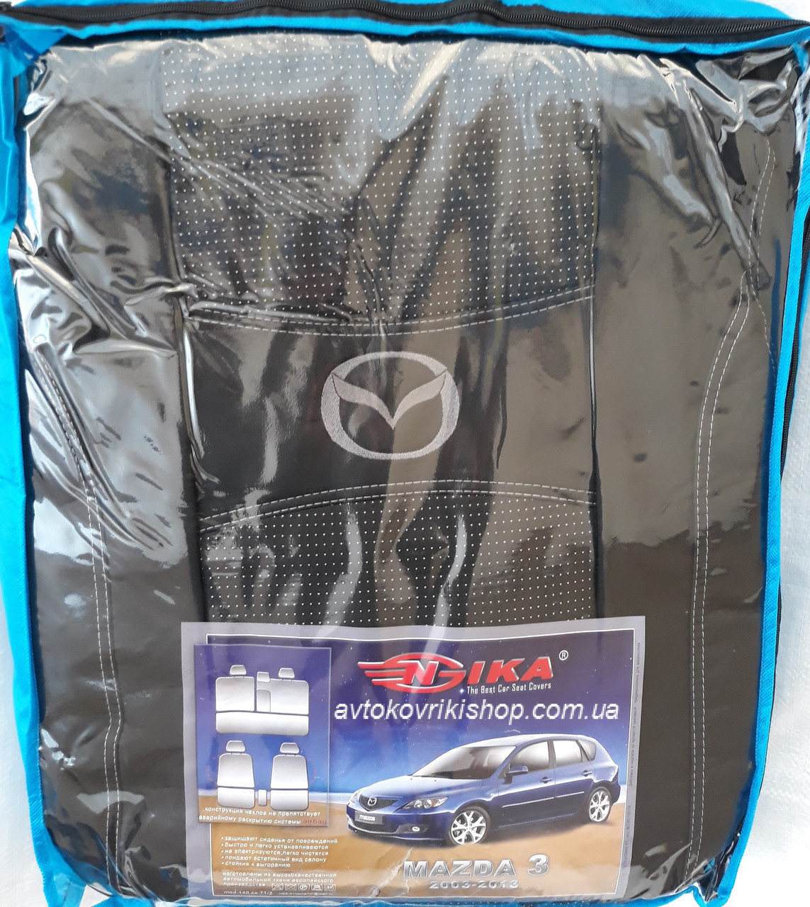 Авточехлы Mazda 3 2003- Nika