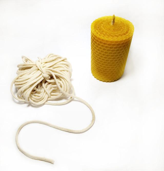 Гніт свічковий плетений діаметр 3 мм ціна за 1 метр від виробника апимаг апімаг apimag