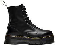 """Зимние Ботинки на меху Dr. Martens Jadon Fur """"Black"""" - """"Черные"""" (Копия ААА+)"""