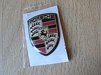 Наклейка s вставка в эмблему Porsche Stuttgart 25х34х1,0мм силиконовая эмблема на авто Порш Порше без хрома