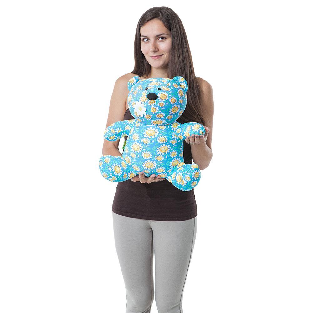 Мягкая игрушка антистресс Медведь в ромашку