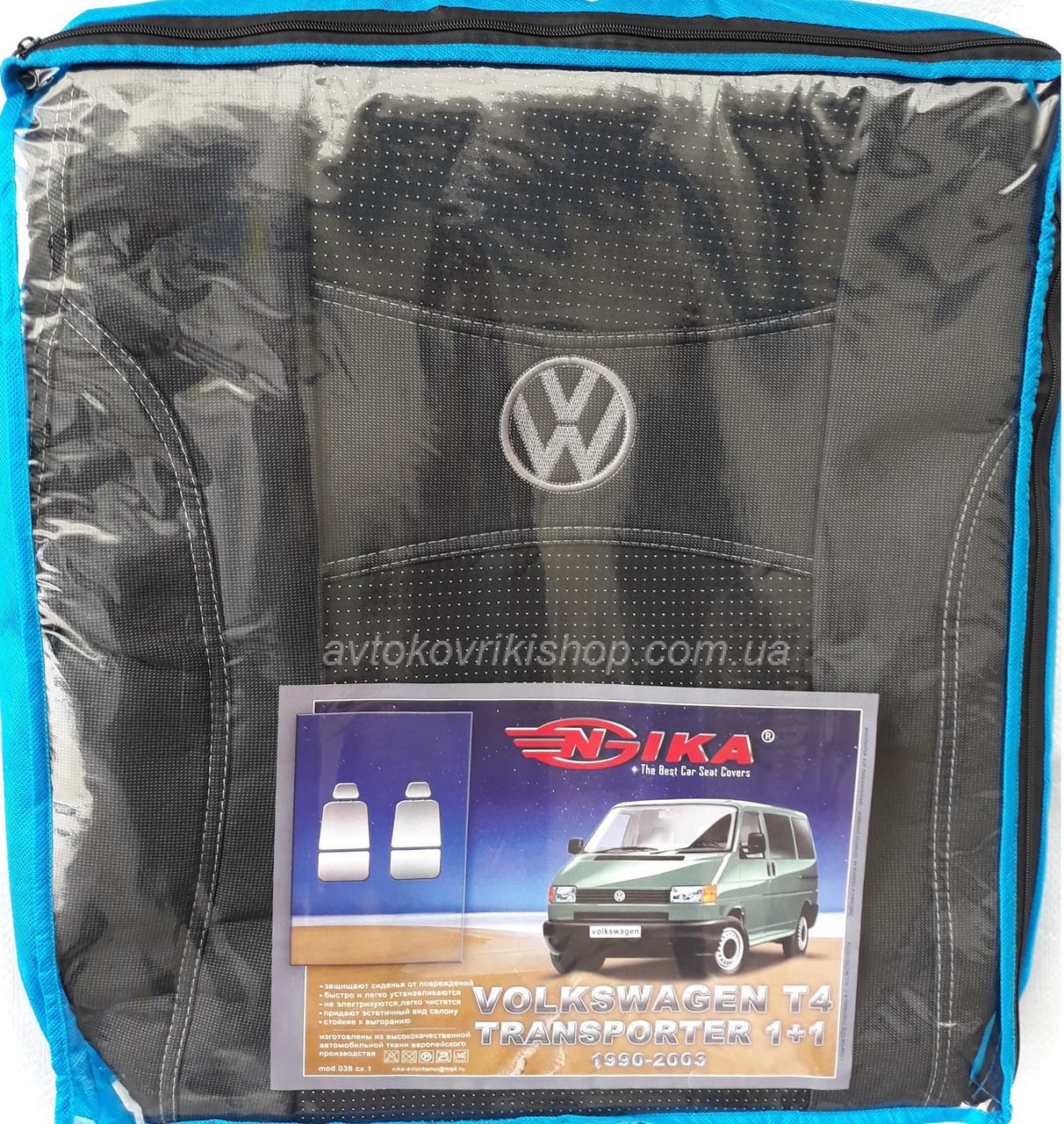Авточехлы Volkswagen T4 1+1 1990-2003 Nika