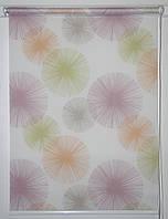 Готовые рулонные шторы 650*1500 Ткань Салют Тропик, фото 1