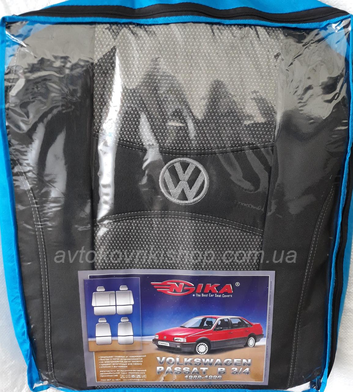 Авточехлы Volkswagen Passat B3 / B4 1988-1996 Nika
