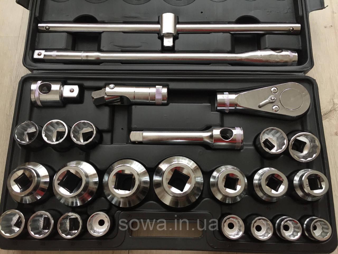 ✔️ Профессиональный набор больших головок с трещоткой LEX 1306 - 26 шт