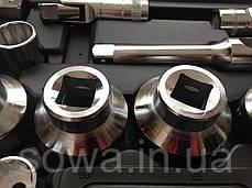 ✔️ Большие головки с трещоткой в наборе LEX 1306  26 шт ( хром-ванадиевая сталь ), фото 3