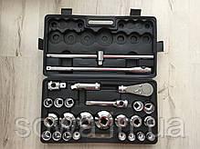 ✔️ Большие головки с трещоткой в наборе LEX 1306  26 шт ( хром-ванадиевая сталь ), фото 2
