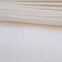 Льняная саржевая ткань молочного цвета (шир. 150 см)