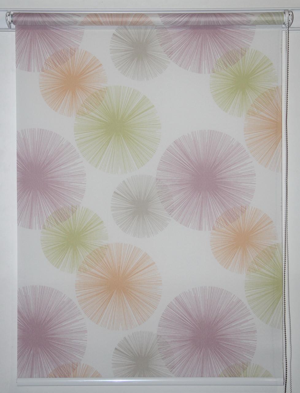 Готовые рулонные шторы 1300*1500 Ткань Салют Тропик