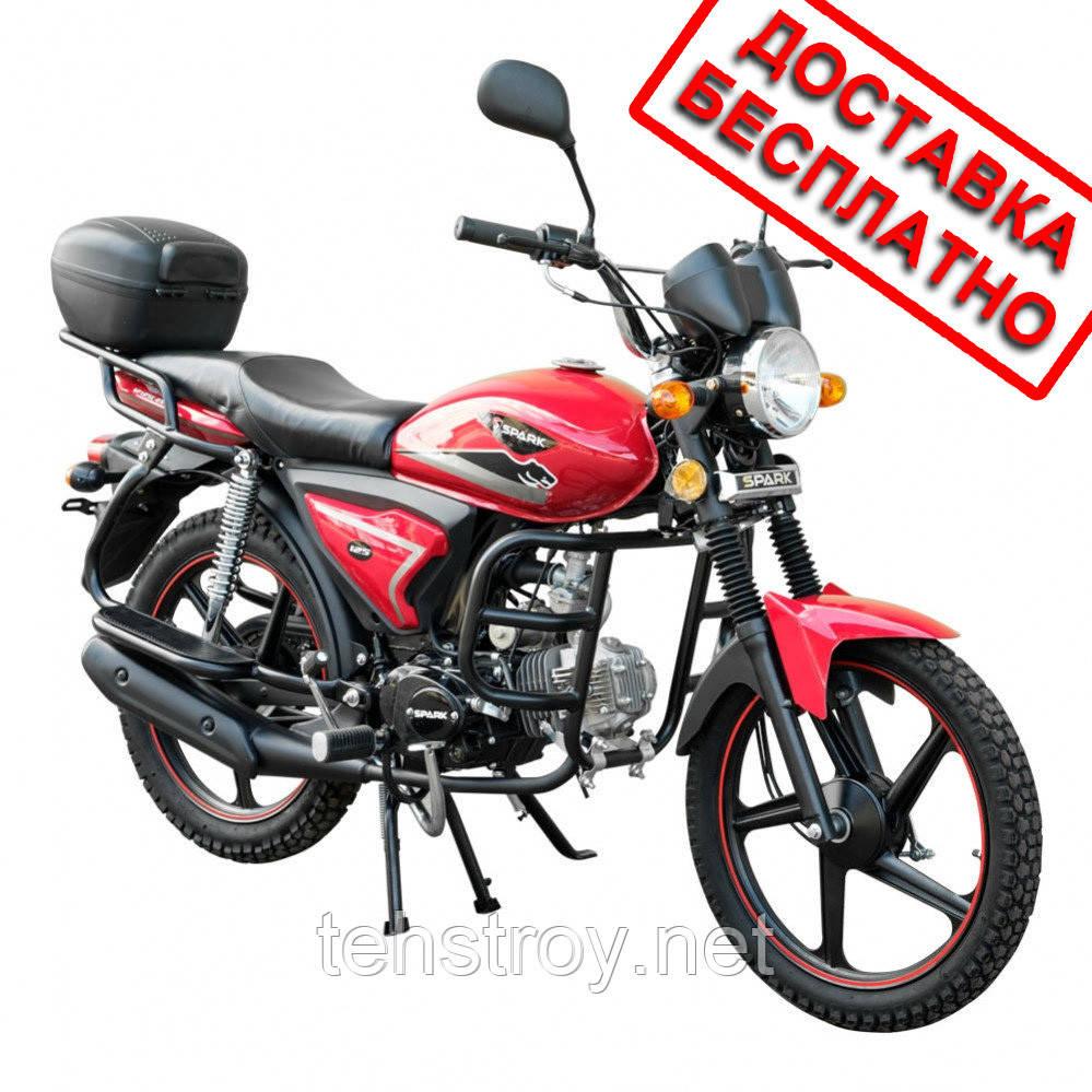 Мотоцикл SPARK SP125C-2XWQ (красный,черный,синий,белый) +Доставка бесплатно