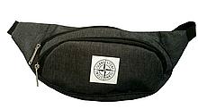 Сумка на пояс черная, бананка, поясная сумка 028P