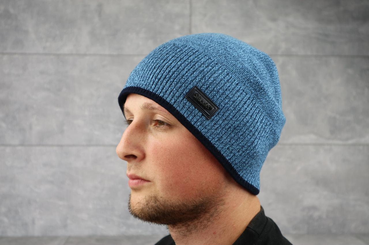 Мужская зимння шапка ShaDo 97 цвет Джинс