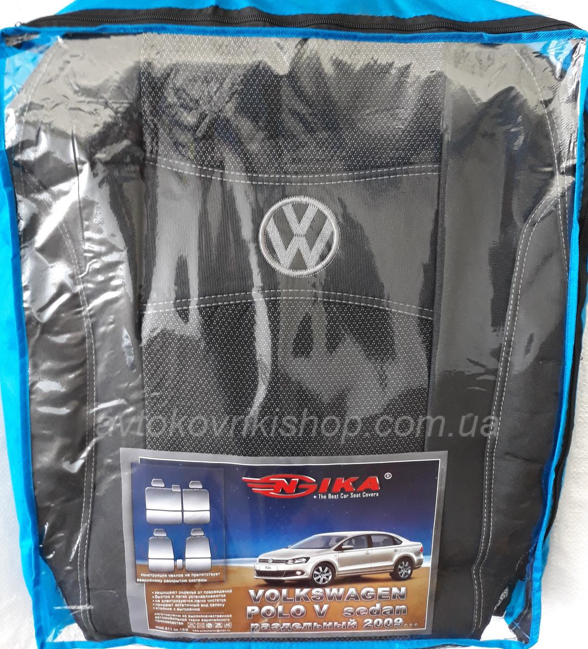 Авточехлы Volkswagen Polo V 2009- (раздельная) Nika