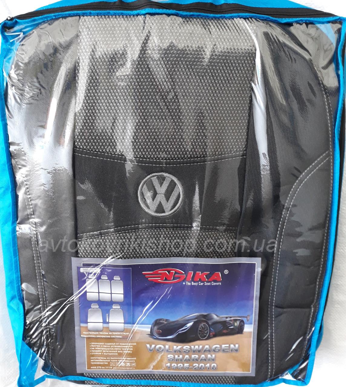 Авточехлы Volkswagen Sharan 1995-2010 (5 мест) Nika
