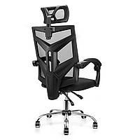 Эргономичный офисный стул Поворотный стул для ноутбука с высокой спинкой Регулируемый угол Вращающийся стул с подголовником-1TopShop