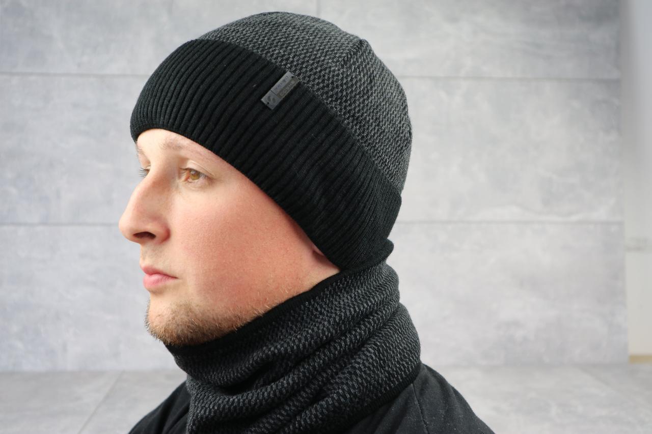 Вязаный мужской баф ShaDo 10 Черный