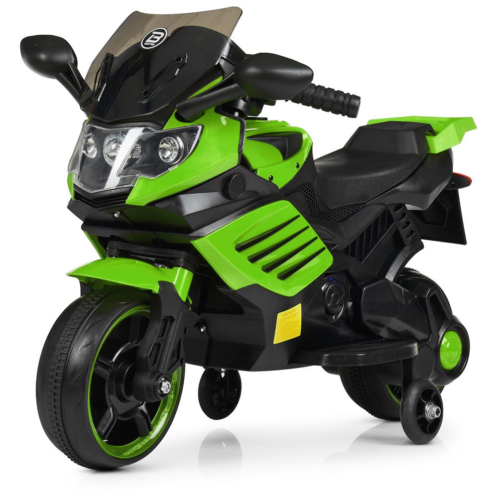 Электромобиль Мотоцикл M 4116-5 зеленый BAMBI