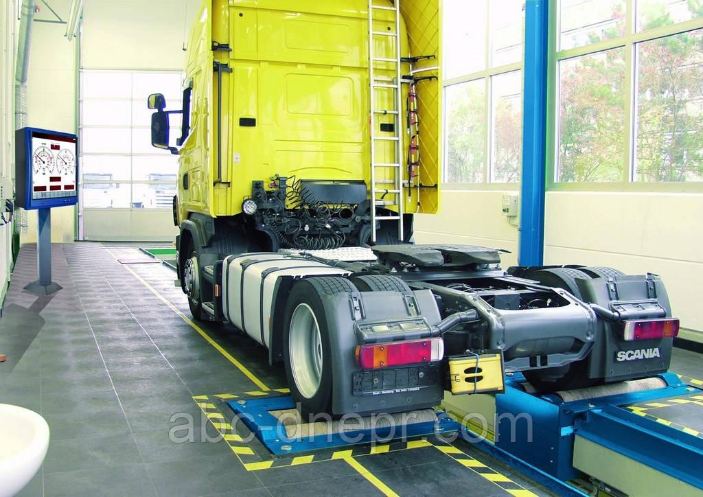 Установка тензодатчиков на тормозные стенды для грузовых автомобилей