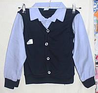 Рубаша-обманка в полосочку мальчика ,  6-12 лет, Турция