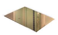 Зеркало НСК 100см х 100см, тонированное бронза, кромка полировка
